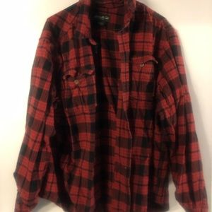 Men's Eddie Bauer red and black buffalo flannel